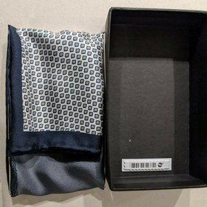 Oxford Mens Silk Pocket Square Multi Printed NY/GR